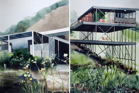 Acuarelas arquitectónicas, por Amy Park