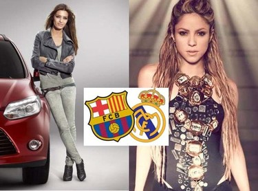 Duelo de divas, pelea de gatas: Barça Vs Madrid, Shakira Vs Sara Carbonero