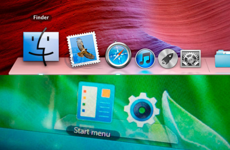 S-Launcher copiando el Dock de OS X