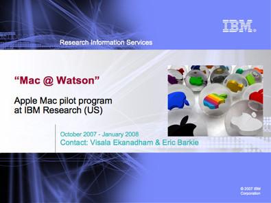 Programa de IBM para pasarse a Mac