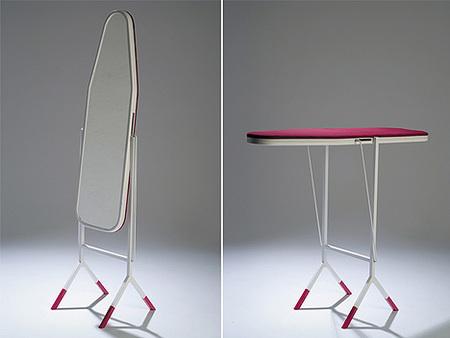 Espejo y tabla de planchar. Dos en uno