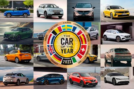 Coche del Año 2022: los candidatos a la corona, con protagonismo para los coches eléctricos y los SUV