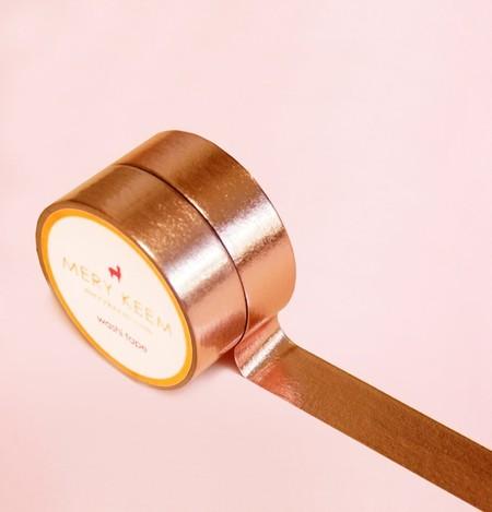 Rose Gold Foil Washi Tape Para Diarios Y Planificadores O Scrapbooking O Artesanias O Oficina O Articulos De Fiesta O Envoltorios De Regalo O Ideal Para Manualidades O Cinta Adhesivas Decorativa