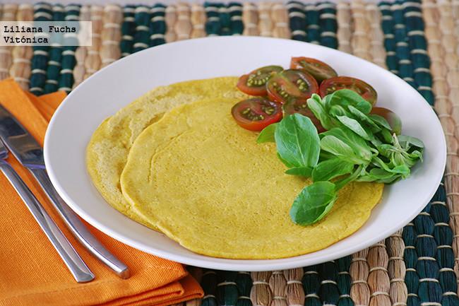Tortillas veganas de harina de garbanzos. Receta saludable