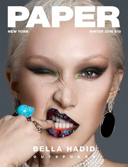 Bella Hadid se vuelve rubia platino en la portada de Paper Magazine