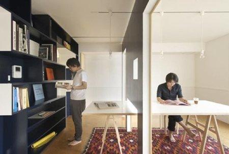 Una buena idea: paredes móviles para separar ambientes