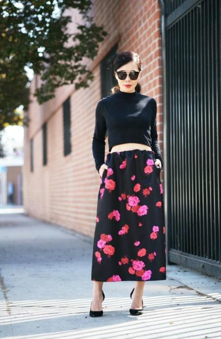 Halliedaily Cropped Top No21 Maxi Skirt Gucci Shoes 1