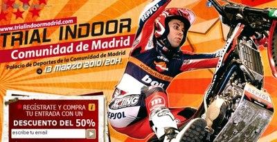 Trial Indoor en Madrid, entradas a la mitad de precio