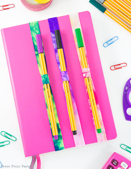 Diy Pen And Pencil Holder 3 Colors On Notebook