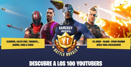 ElRubius y LVP se alían para crear el Youtube Battle Royale de Fornite en Gamergy
