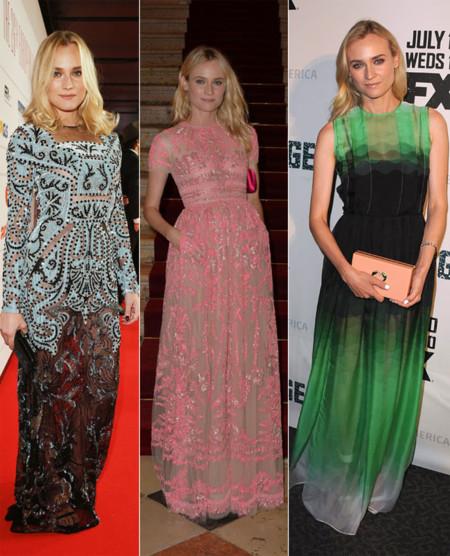 Diane Kruger vestido largo