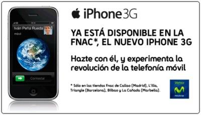 El iPhone 3G amplía horizontes: Ya disponible en la FNAC