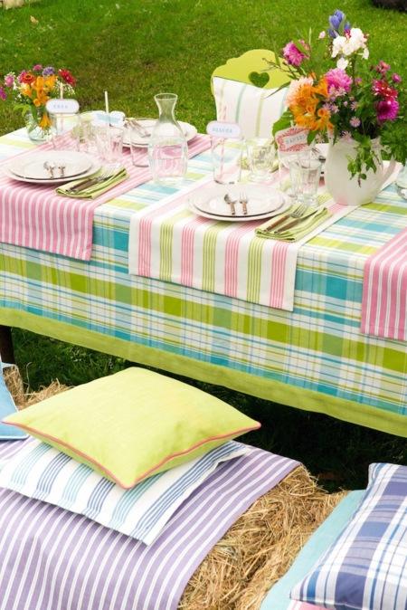 Haz que los colores de la primavera inunden tu hogar por dentro y por fuera con los textiles