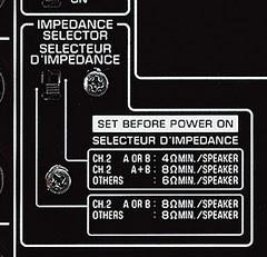 Ajuste impedancias altavoces