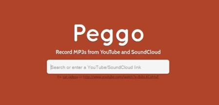 Peggo, grabando los sonidos de Youtube y SoundCloud