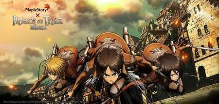 Attack on Titan invade el mundo de MapleStory