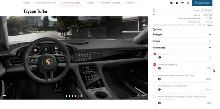 Configurador web de Porsche