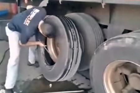 ¿Cansado de esperar? En este taller te cambian las ruedas del camión en un minuto, literalmente