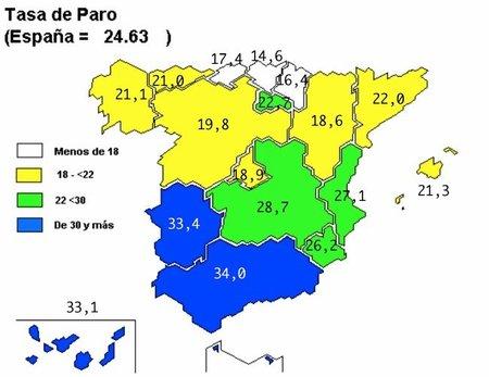 Paro EPA, una depresión encabezada por Andalucía (mapa de paro por CCAA)