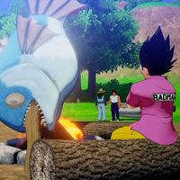 Vegeta pesca, vuela y reparte tortas con estilazo en Dragon Ball Z: Kakarot