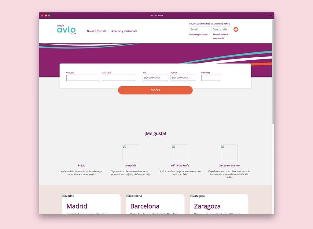 La nueva web de AVLO, el AVE 'low cost', se ha caído en el momento en que comenzaba la oferta de billetes a 5 euros