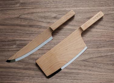 Preciosos cuchillos de diseño en madera