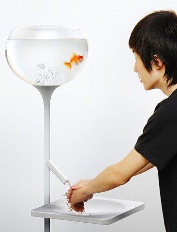 Poor Little Fish, pecera y lavabo