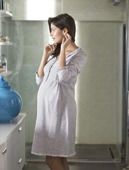 prenatal camisón gris