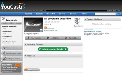 YouCastr, retransmite tus comentarios deportivos por Internet