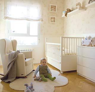 C mo debe ser la habitaci n del beb - Cortina para cuarto de bebe ...