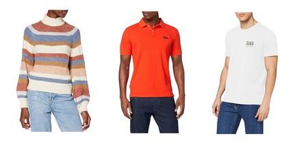 Chollos en tallas sueltas de pantalones, jerseys y camisetas Lee, Superdry, Levi's o Pepe Jeans a la venta en Amazon