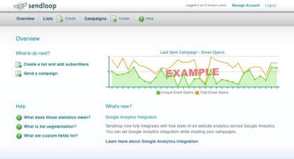 Sendloop, otra herramienta de mailing a través de la web
