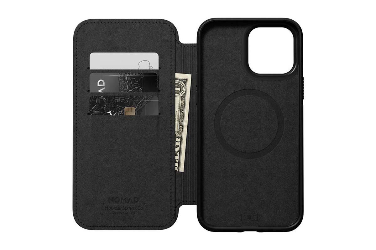 Nomad Modern Folio Funda MagSafe iPhone 13 Pro Max piel