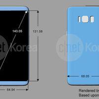 Galaxy S8: nuevos renders siguen apuntando a una pantalla 'infinity' y lector de huellas trasero