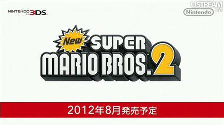 Nintendo anuncia 'New Super Mario Bros 2' para Nintendo 3DS