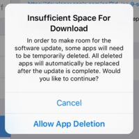 iOS 9 eliminará temporalmente nuestras aplicaciones si necesita espacio para actualizarse