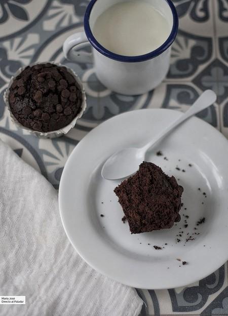 magdalenas de remolacha y chocolate