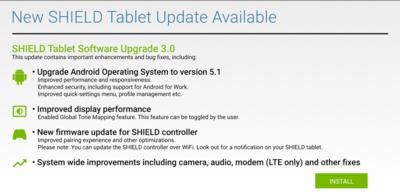 La tableta Nvidia Shield recibe su ración de Android 5.1 Lollipop vía OTA