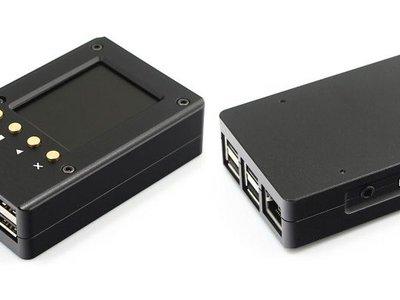 Esta caja de aluminio con pantalla de 2,2 pulgadas es una excelente idea para tu Raspberry Pi