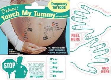 Un divertido tatuaje temporal para la panza