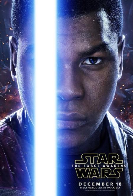 Cartel de John Boyega como Finn