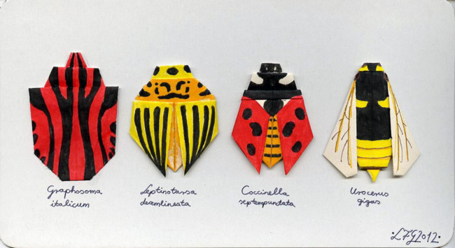 Origami Insects By Hrlfg D4ndd3u