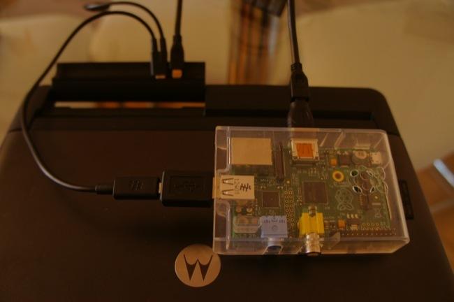 Mi proyecto de Portatil con la Raspberry Pi, utilizando un Lapdock de Motorola