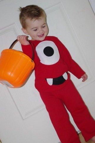 Disfraces para Halloween: el niño monstruito