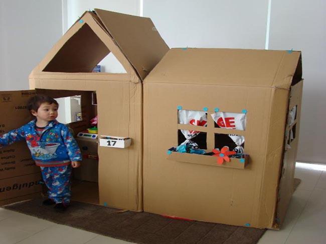 Hazlo t mismo una casita de juguete de cart n - Casitas de tela para ninos toysrus ...