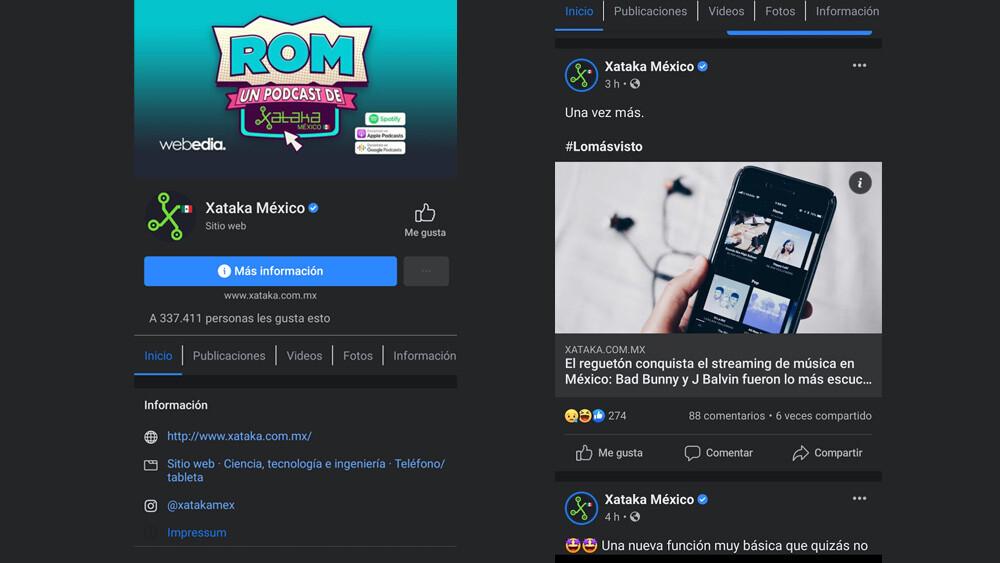 El modo oscuro de Facebook ya está disponible en la app de iOS y Android en México