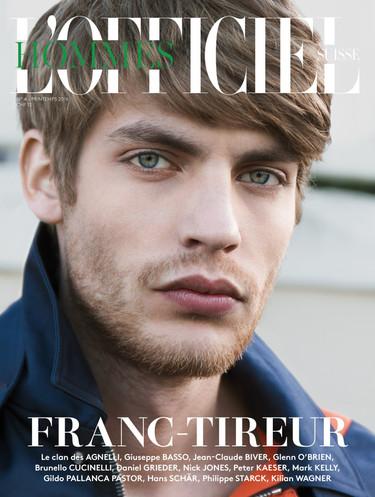Baptiste Radaufe en portada de la edición suiza de la revista L´Officiel Hommes