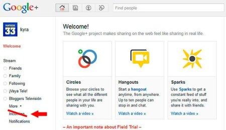 """Google+ elimina la sección """"Incoming"""" por considerarla demasiado confusa para los usuarios"""