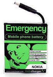 Cargador de emergencia para el móvil