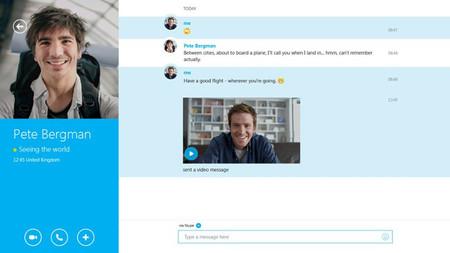Skype actualiza su aplicación para Windows 8.1 solucionando errores y sincronización